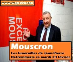 Mouscron : les funérailles de Jean-Pierre Detremmerie ce mardi 23 février 2016