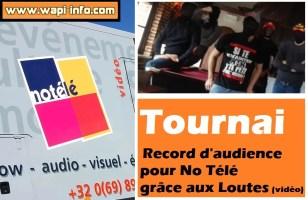 Tournai : record d'audience pour No Télé grâce aux Loutes (+vidéo)