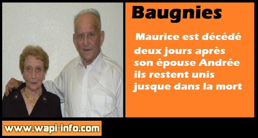 Maurice Andree deces Baugnies