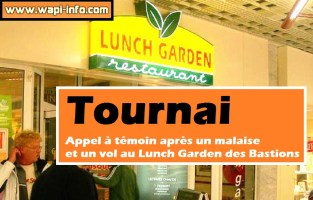 Tournai : appel à témoin après un malaise et un vol au Lunch Garden des Bastions