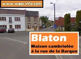 Blaton : maison cambriolée à la rue de la Barque