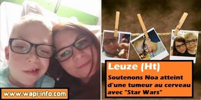"""Leuze (Ht) : soutenons Noa atteint d'une tumeur au cerveau avec """"Star Wars"""""""