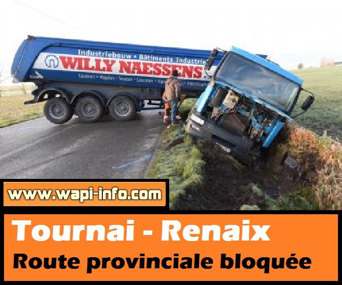 tournai renaix route provinciale bloquee