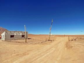De grens met Bolivië