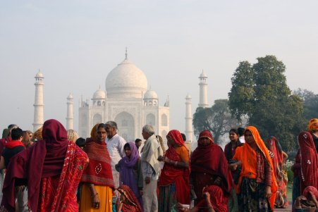 Women Taj Mahal, Agra, India