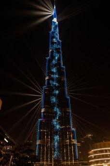 Burj Khalifa light show, Dubai