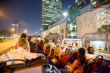 hop-on hop-off bus Dubai at night