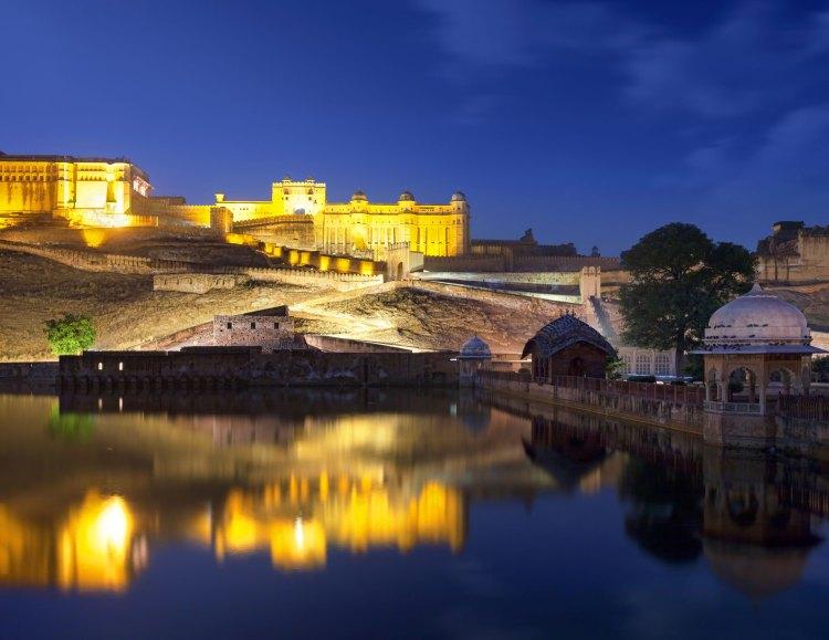 Amer fort at night, Jaipur, India