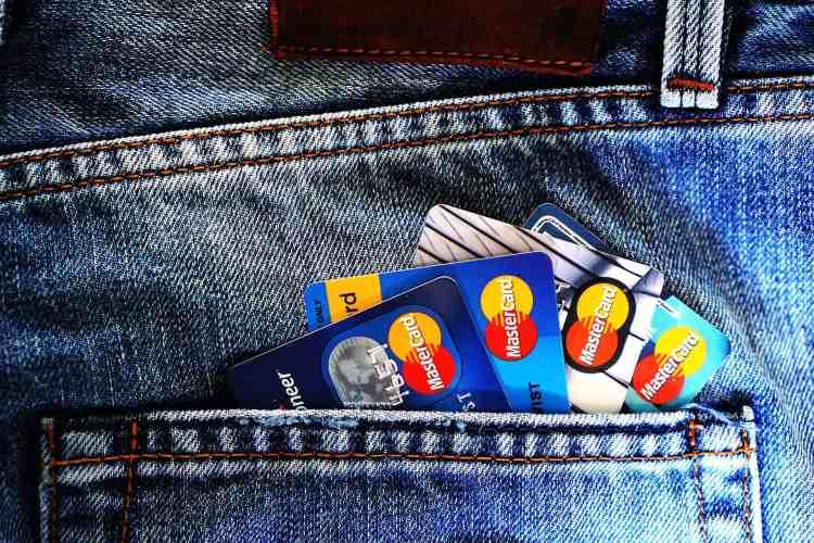 Credit cards in backpocket