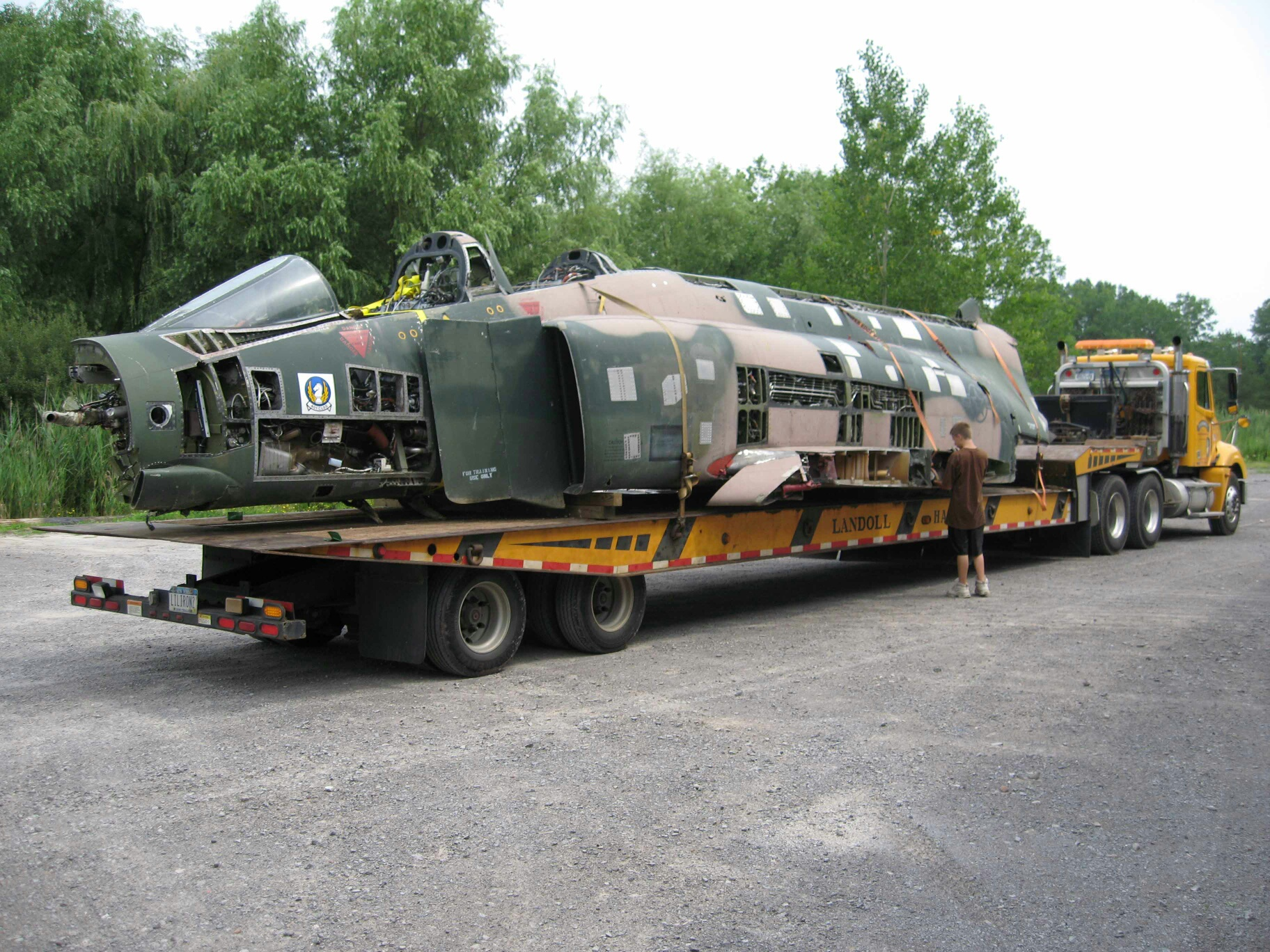 David Garbe's suplus F-4C Phantom II project is for sale. It comes complete with most of the necessary parts. (David Garbe photo)