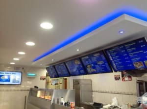 Commercial Electricians, LED upgrade in mansfield 2nd Fix