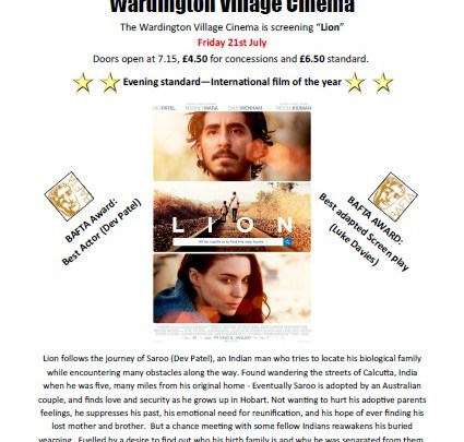 Time to book your tickets for Wardington Village Cinema