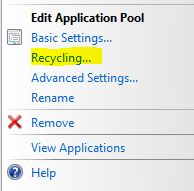 Tip of the Week 1 – IIS Application Pool Recycling