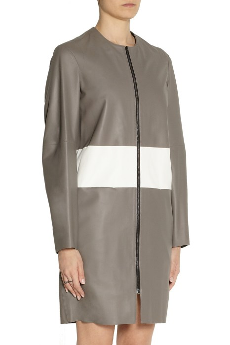 Joseph striped leather coat $599 Outnet