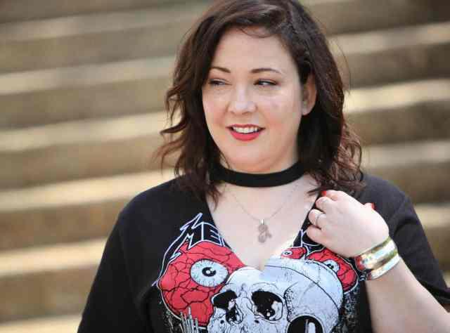 Blogger Wardrobe Oxygen in a Metallica Choker T-Shirt from TopShop