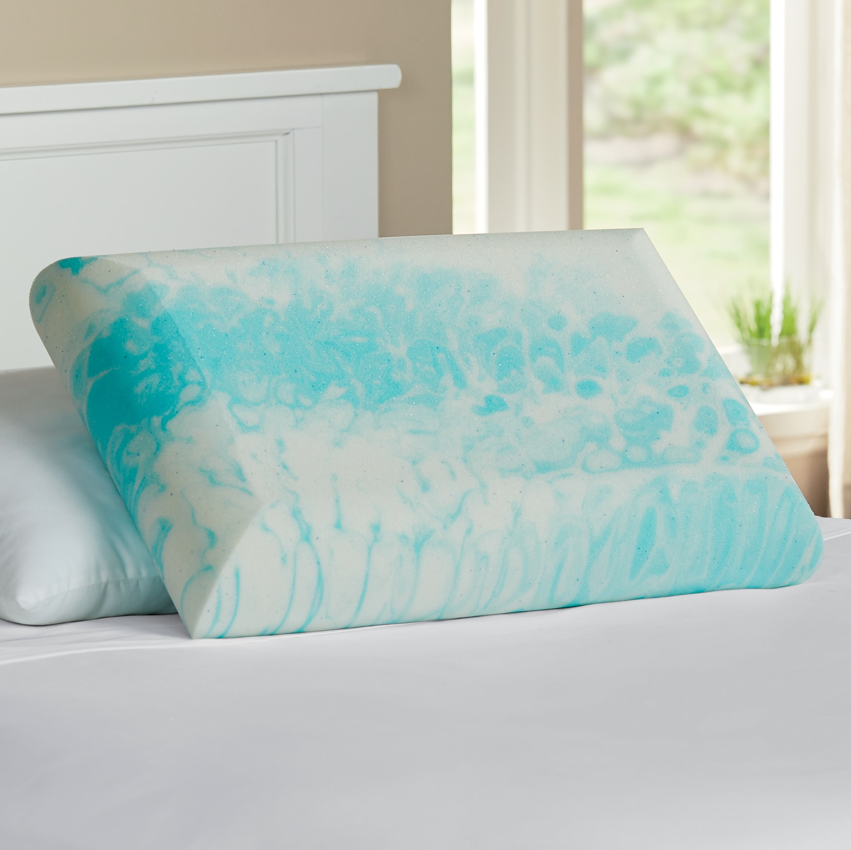 sleep connection cooling memory foam pillow