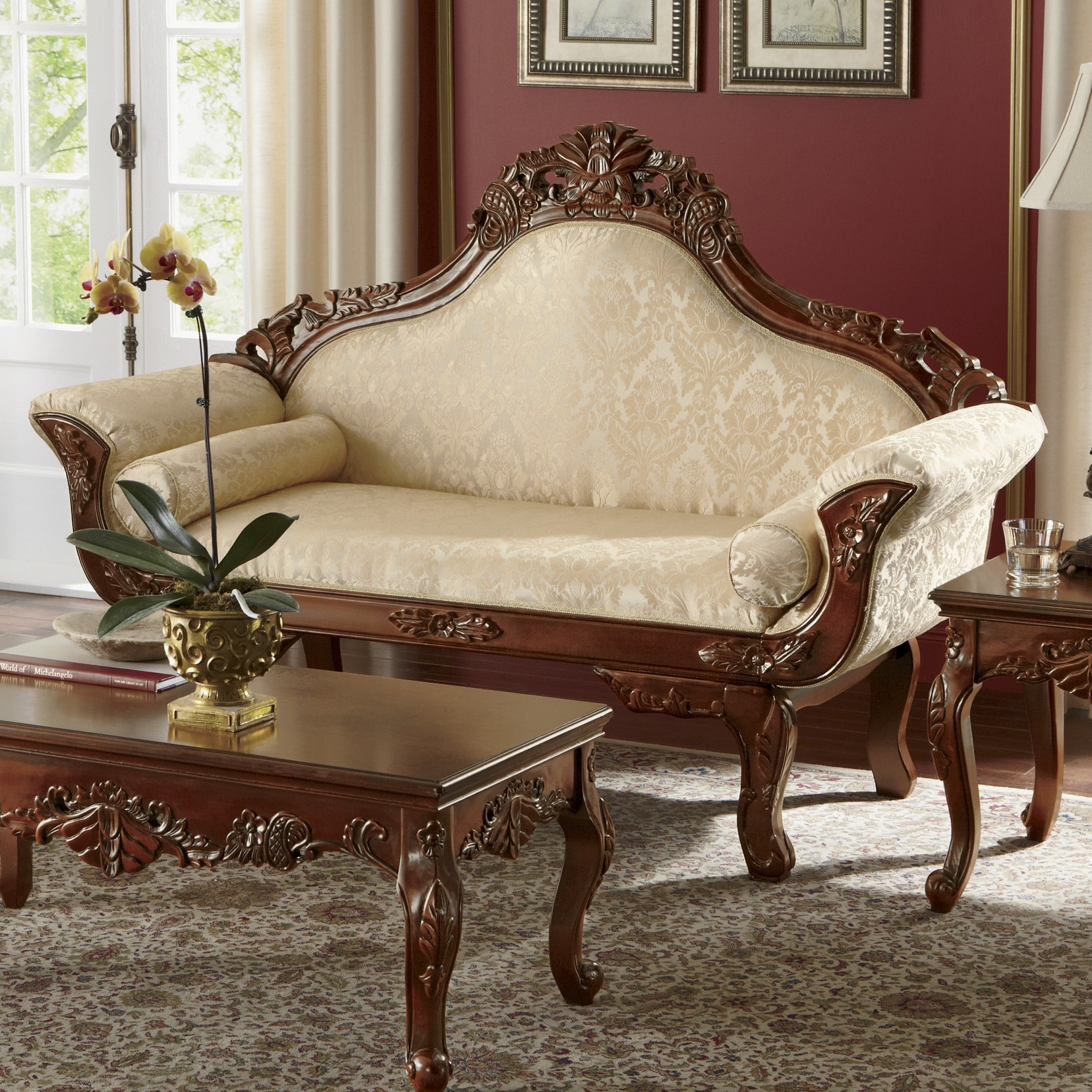 Florencia Carved Loveseat Montgomery Ward