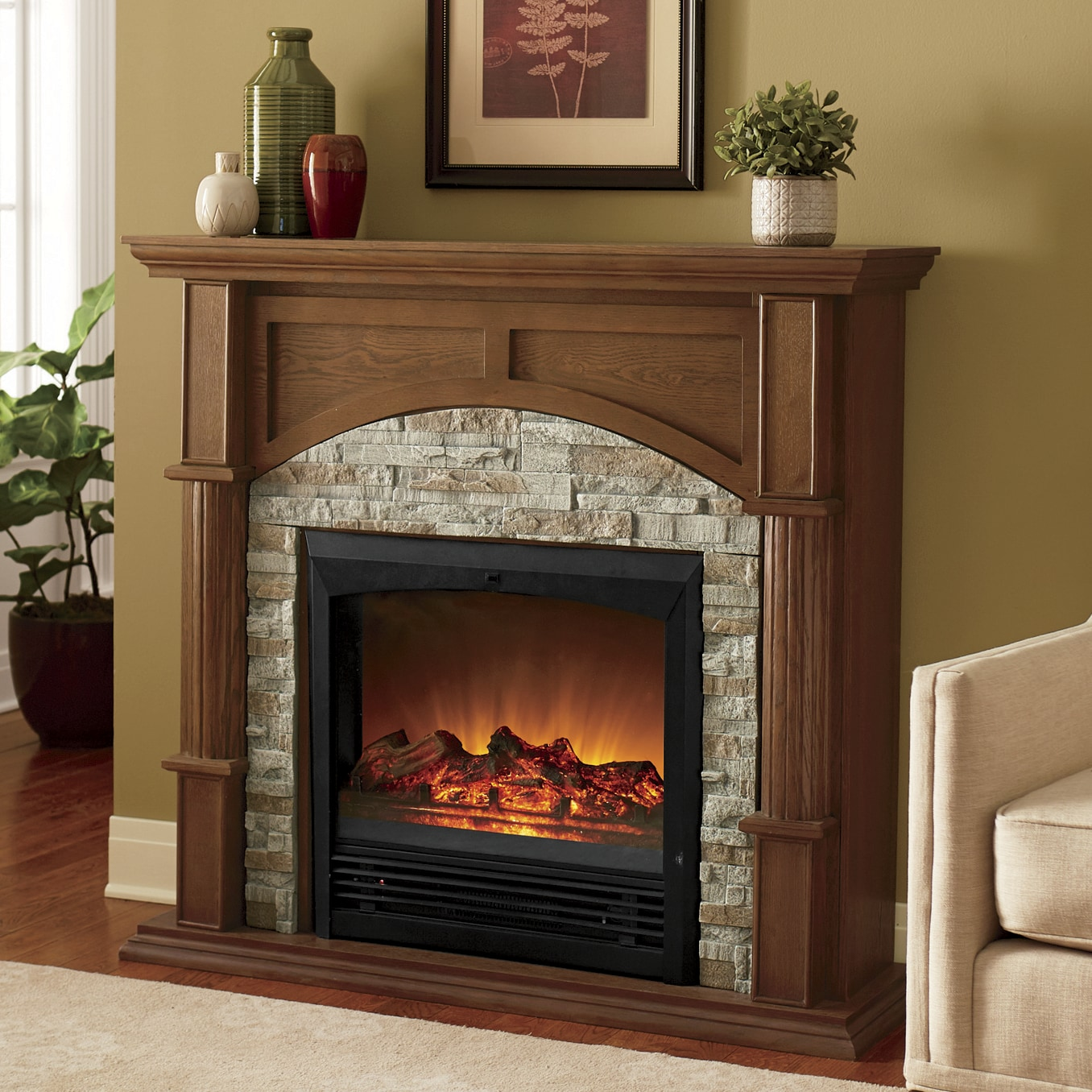 Faux Brick Fireplace Montgomery Ward