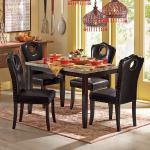 Marble Look Dining Table And Nailhead Chairs Montgomery Ward