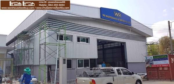 โกดังและสำนักงาน HW-HC ขนาด 8x21x6.9 เมตร พร้อมรางเครนรับน้ำหนัก 6 ตัน