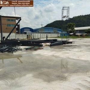 งานติดตั้งโรงงานสำเร็จรูป หน้างานบ้านบึง ชลบุรี HW-H Size 24×47.5×7.5 m.  ฿2.95 ลบ. (ไม่รวมงานพื้นและไฟฟ้า)