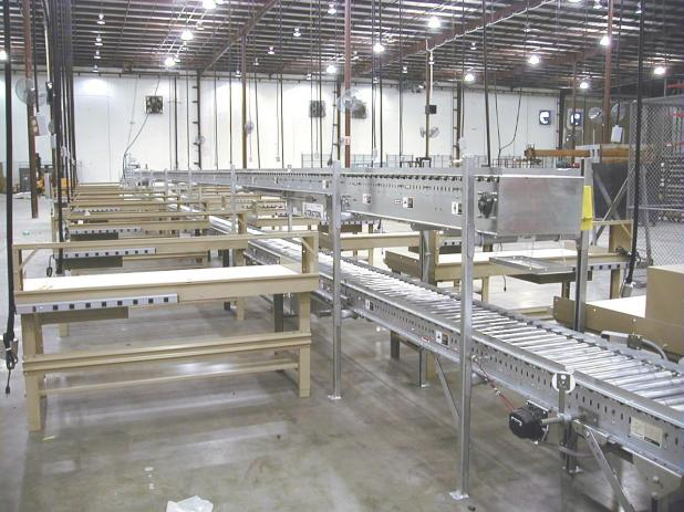 Conveyor System with Packing Stations