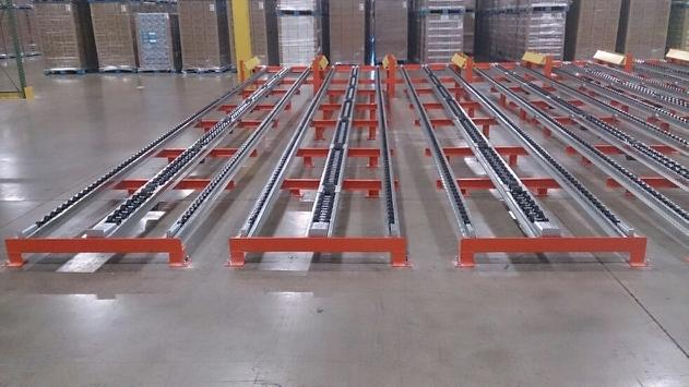Floor Mounted Pallet Flow
