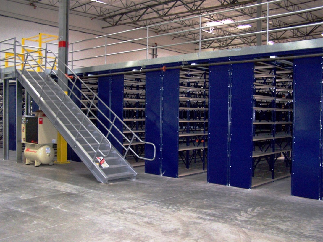 Metal Shelving Supported Mezzanine