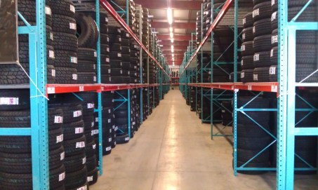 Tire Storage with Supertruss row end