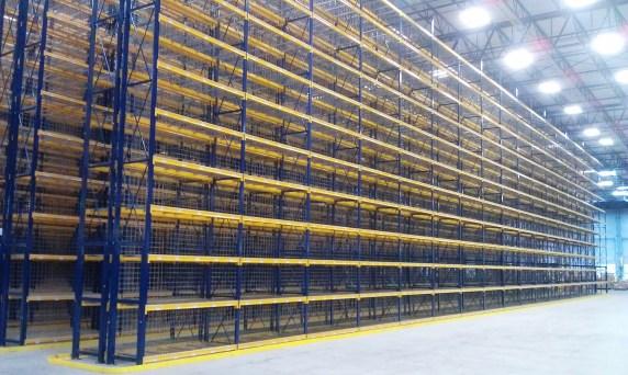 high bay selective pallet rack system