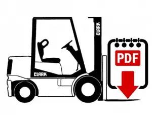 Clark CGC20 forklift repair manual | Download PDF forklift manual