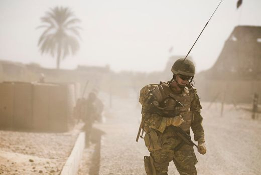 Soldier from 1 LANCS on Patrol