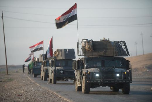 Iraqi counter-terrorism convoy, Baghdad to Mosul road, 23 Feb 2017, by US Army Staff Sgt Alex Manne