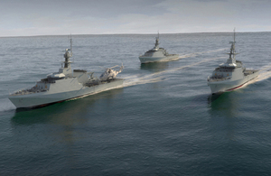Computer Generated Image of the new Offshore Patrol Vessels (OPV).