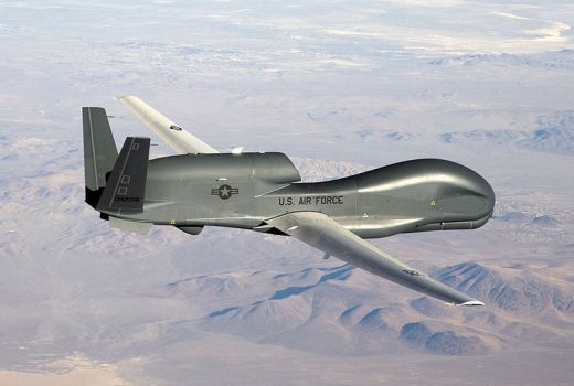 USAF RQ-4 Global Hawk drone by Bobbi Zapka (USAF, 2007)