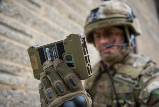 British Army AWE17 Royal Marine with Deployable Situational Awareness device by Cpl Daniel Wiepen (MOD Crown 2017 Limited Re-use) APOSW-2017-018-AWE 2017-027 [800px]