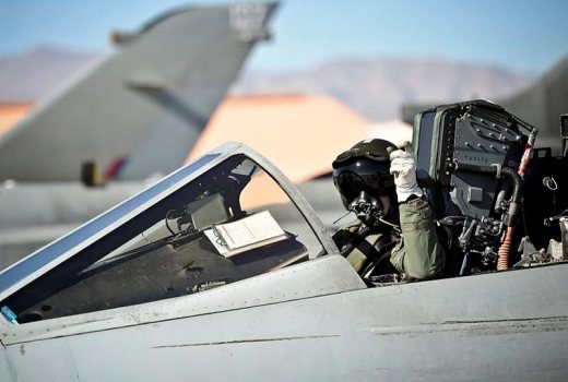 RAF Tornado GR4 pilot with IX (Bomber) Squadron based at RAF Marham arriving at United States Air Force Base Nellis in Nevada for Ex Red Flag 2014, by Sgt Paul Oldfield (Crown)