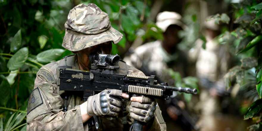 Royal Marines 45 Commando, Exercise African Winds, Jungle Warfare School, Ghana (Crown Copyright, 2013) [880]