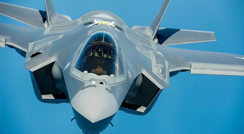 USAF F-35A Lightning II, 58th Fighter Squadron, 33rd Fighter Wing, 16 May 2013, by John Nimmo [800px]