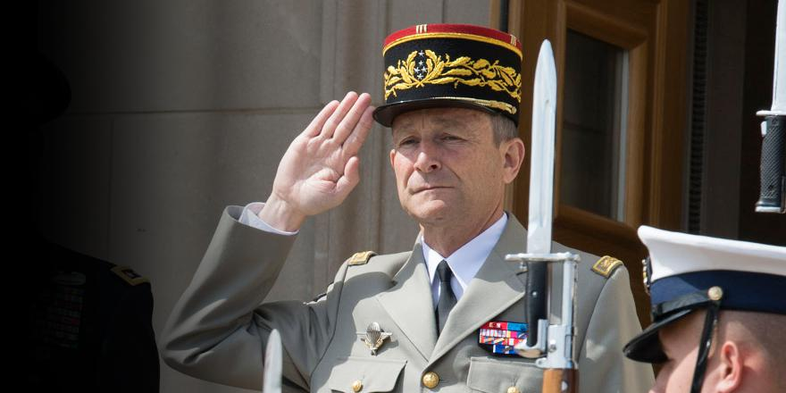 French Army, General Pierre de Villiers, Chief of Staff (chef d etat-major des armees francaises), 23 April 2014 (US Navy)