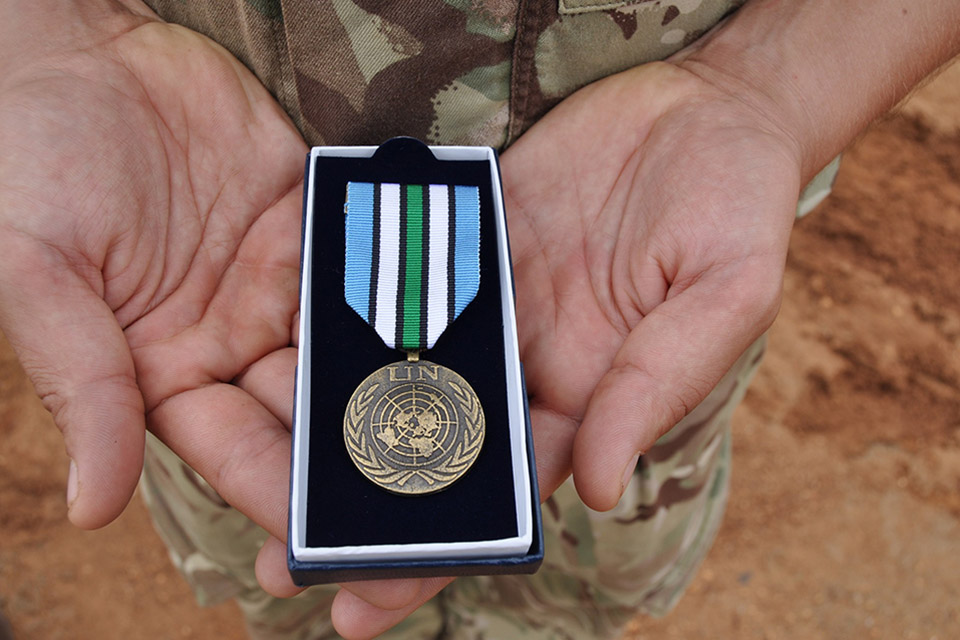 Medals for British Army Soldiers in South Sudan