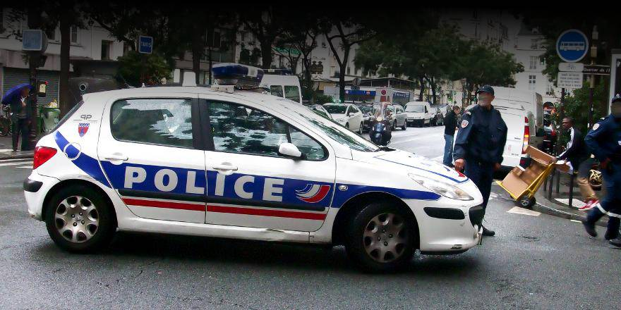 France, Police Nationale, French police vehicle in Paris (2006)