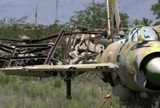 Russian Mig-21 Fishbed near Bagram Air Base, Afghanistan, 2002 (US Navy, 2002)