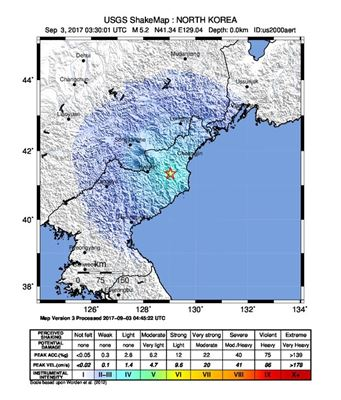 Geological survey data shows North Korea tested nuclear bomb