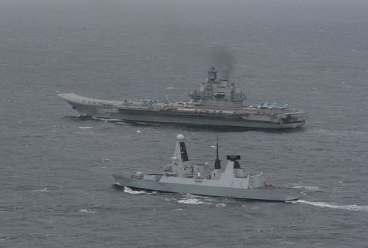 HMS Dragon and Admiral Kuzetsov