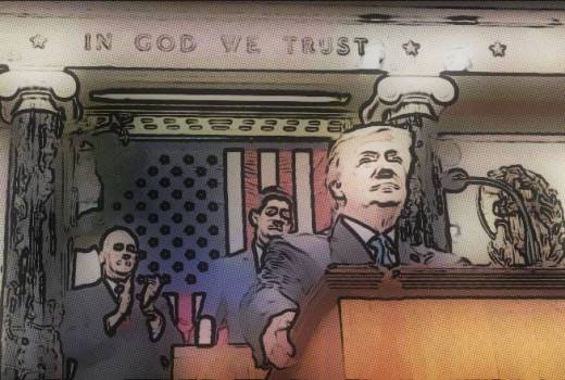 US President Trump State of the Union - Fully Fund Our Great Military (White House, 2018)[880]