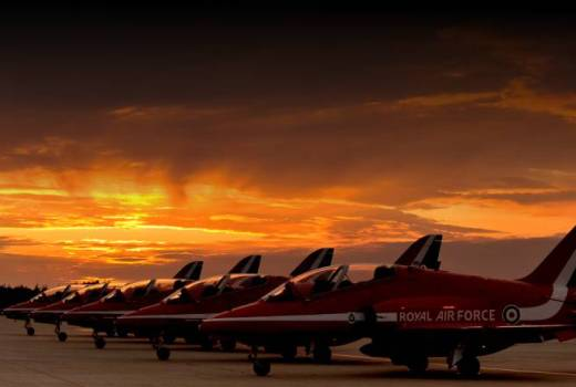 RAF, RAF Aerobatic Team (Red Arrows), Hawk aircraft at Manston Airfield (Crown Copyright, 2011)