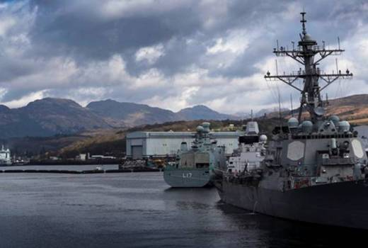 Joint Warrior 18, USS Ross, HDMS Esbekn Snare, RFA Tidespring, HMNB Clyde, Faslane (Crown Copyright, 2018) [880]