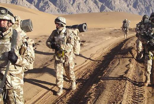 Romanian Land Forces on patrol in Afghanistan in April 2009 (Tico 189, CC3)