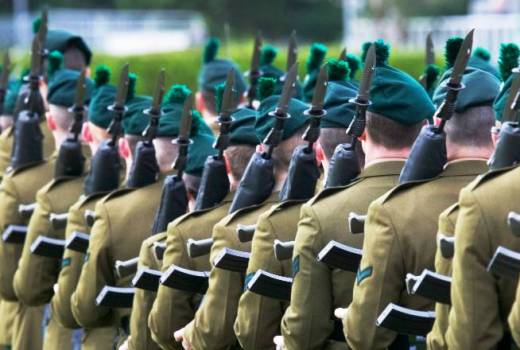 British Army Royal Irish Regiment Home Service Battalions (Crown Copyright, 2006)